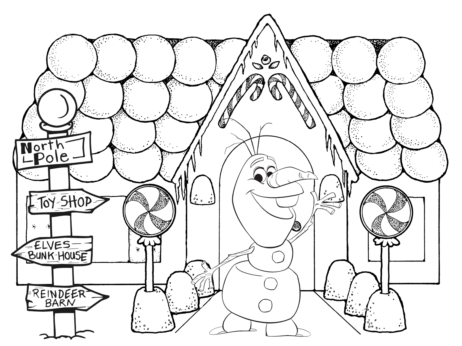 Free olaf coloring pages