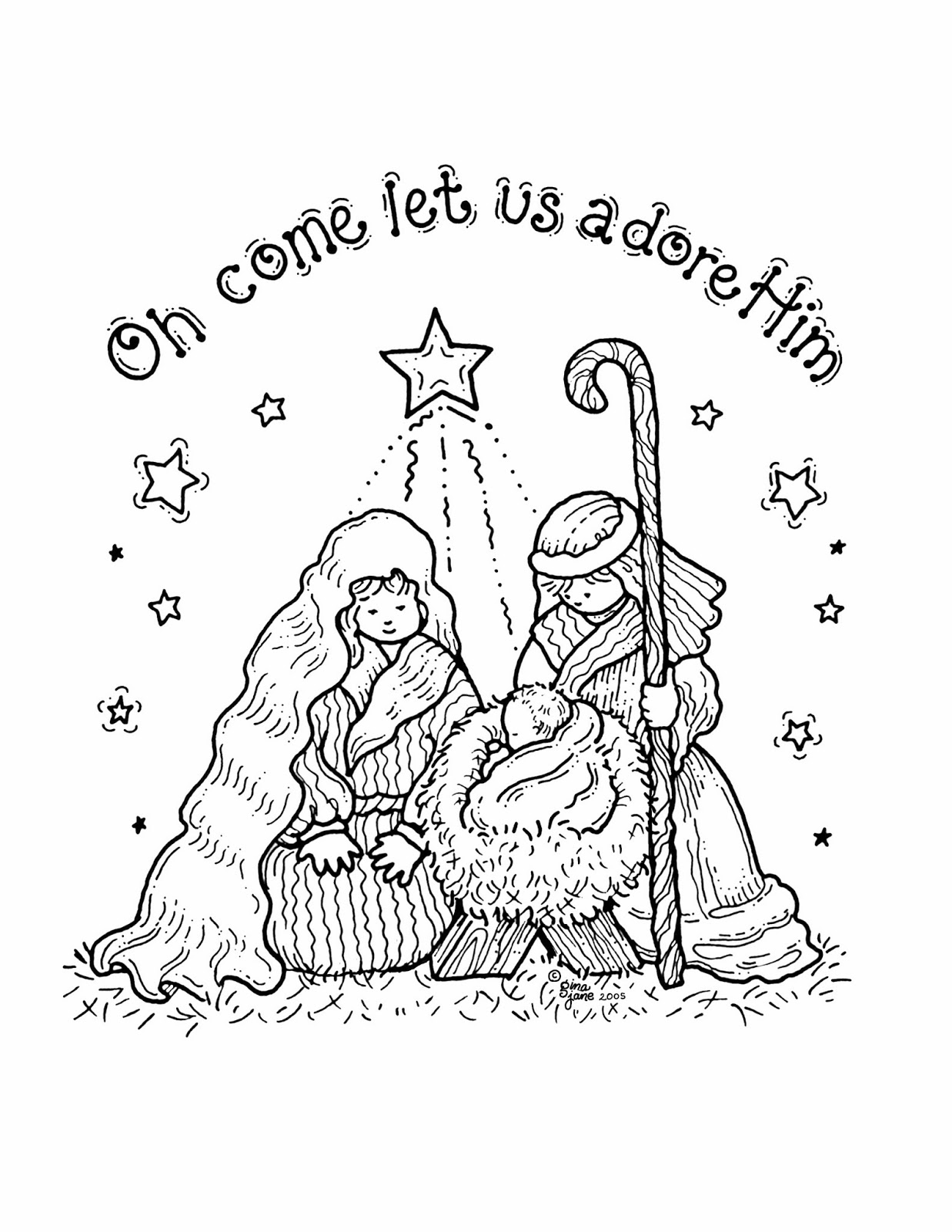 Childrens coloring pages of nativity - Children S Nativity Coloring Pages Nativity Coloring Sheets Download