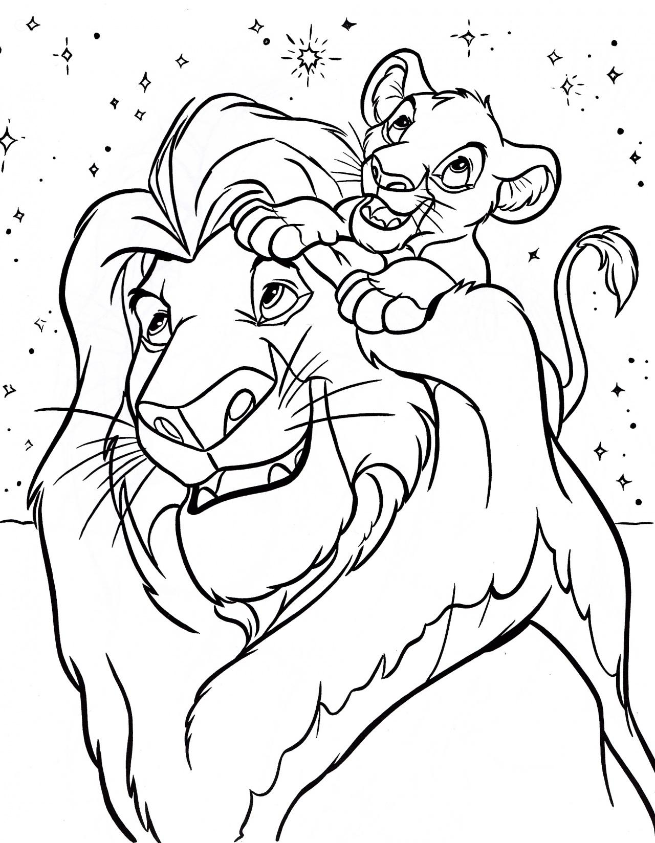 Free printable lion king coloring pages