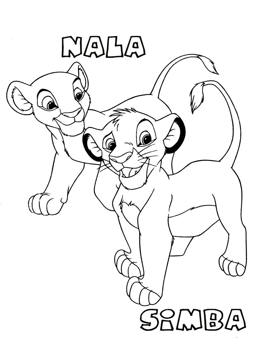 Free coloring pages lion -  Lion King Coloring Page Download