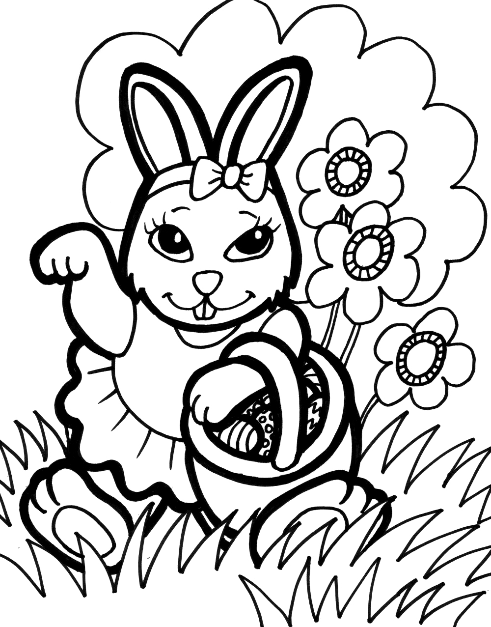 Free bunny coloring pages printable