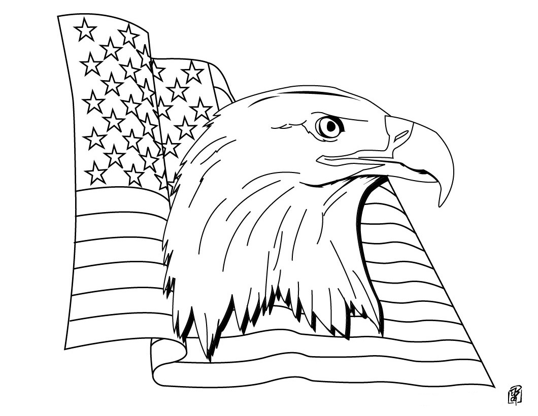Coloring pages for us flags -  American Flag Coloring Pages Download