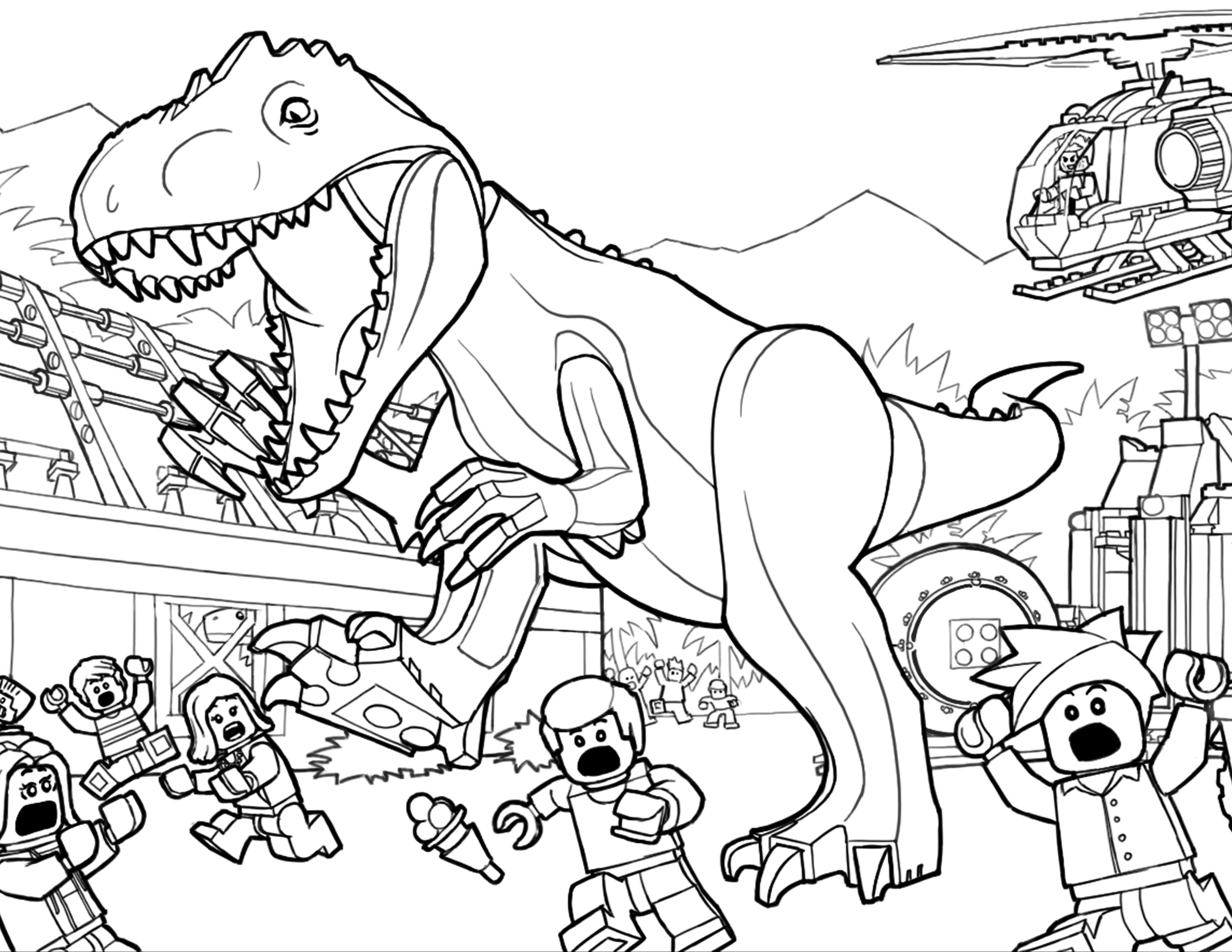 Trex Coloring Pages Best Coloring Pages For Kids
