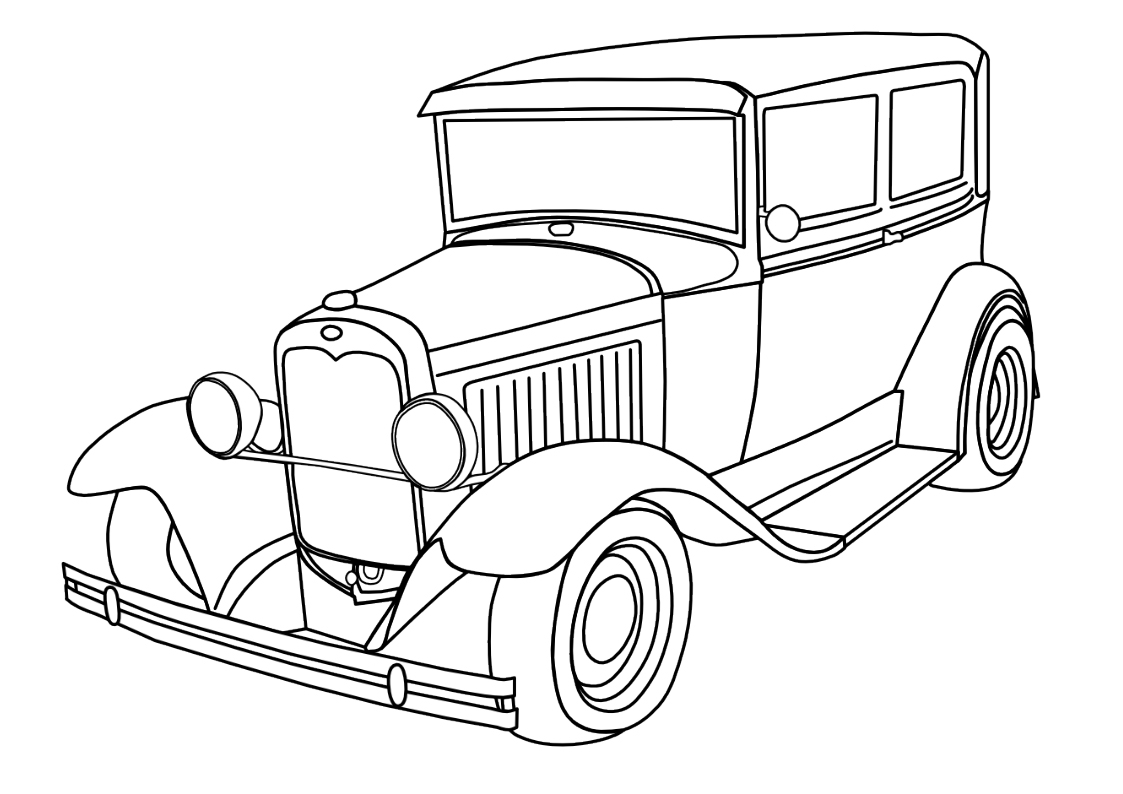 antique car coloring pages