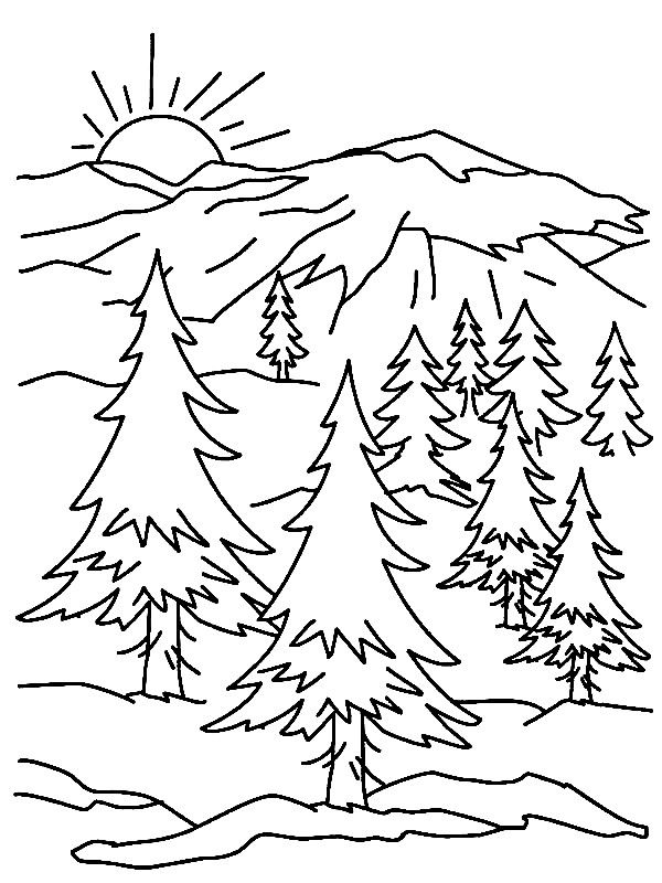 mountain coloring sheet coloring mountains coloring pages