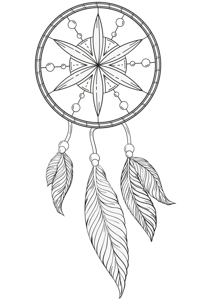 Dream Catcher Wolf Coloring Pages Auto Electrical Wiring Diagram