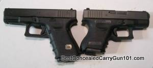 Glock 19 Left, Glock 26 Right