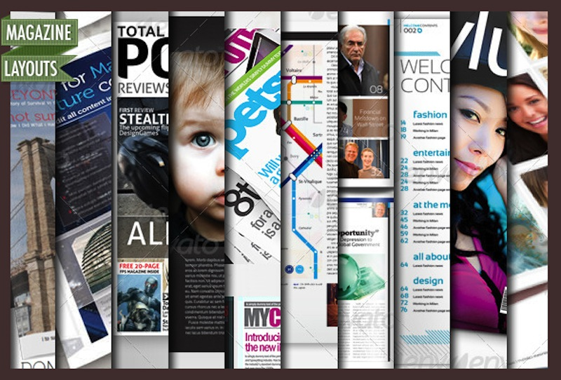 10 Full Magazine Layout Templates for InDesign and Photoshop - Best
