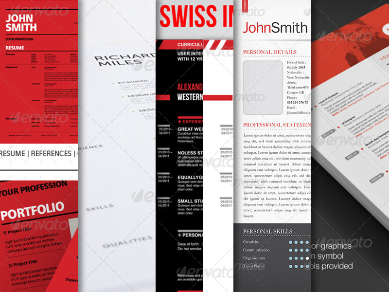 10 Best Swiss Style Resume / CV Templates - Best Designers - resume styles templates