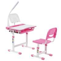 Midi Pink Desk and Chair for Girls