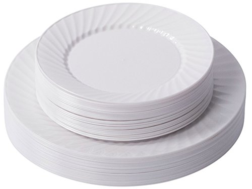 Quot Occasions Quot 120 Pack Heavyweight Disposable Wedding  sc 1 st  Castrophotos & Plastic Plates At Wedding - Castrophotos