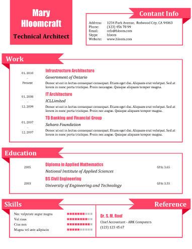 20 best free resume templates microsoft word