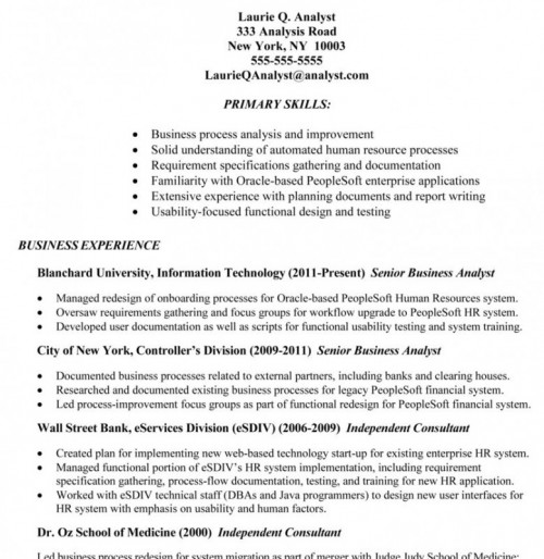 Business Analyst Resumes Market Analyst Resume Business Analyst