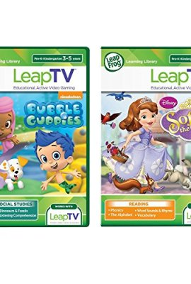 LeapFrog-LeapTV-Active-Video-Learning-Toys-2-Game-Value-Pack-Bundle-Sofia-the-First-Nickelodeon-Bubble-Guppies-0