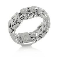 Technibond Byzantine Link Band Ring Platinum Clad Sterling ...