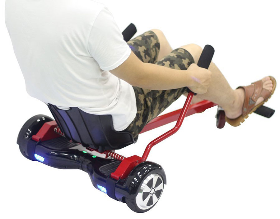 Transform Your Hoverboard Into A Go Kart In 30 Seconds