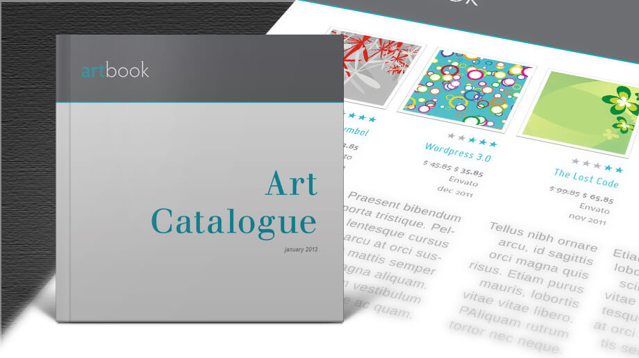 Free Art Catalogue InDesign template Design your own catalog - Free