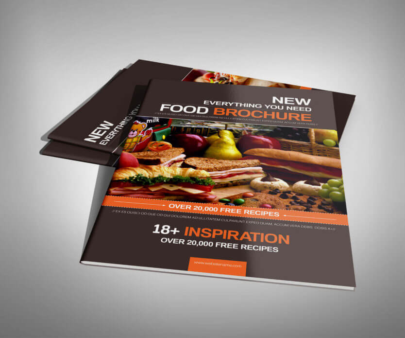 Food services brochure and menu - Download InDesign Template