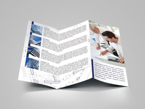 Architecture brochure template make your own tri fold for Tri fold maker