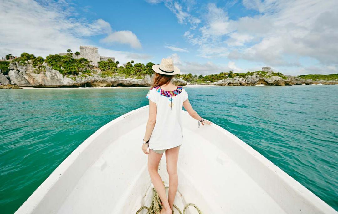 Tulum par la mer bateau
