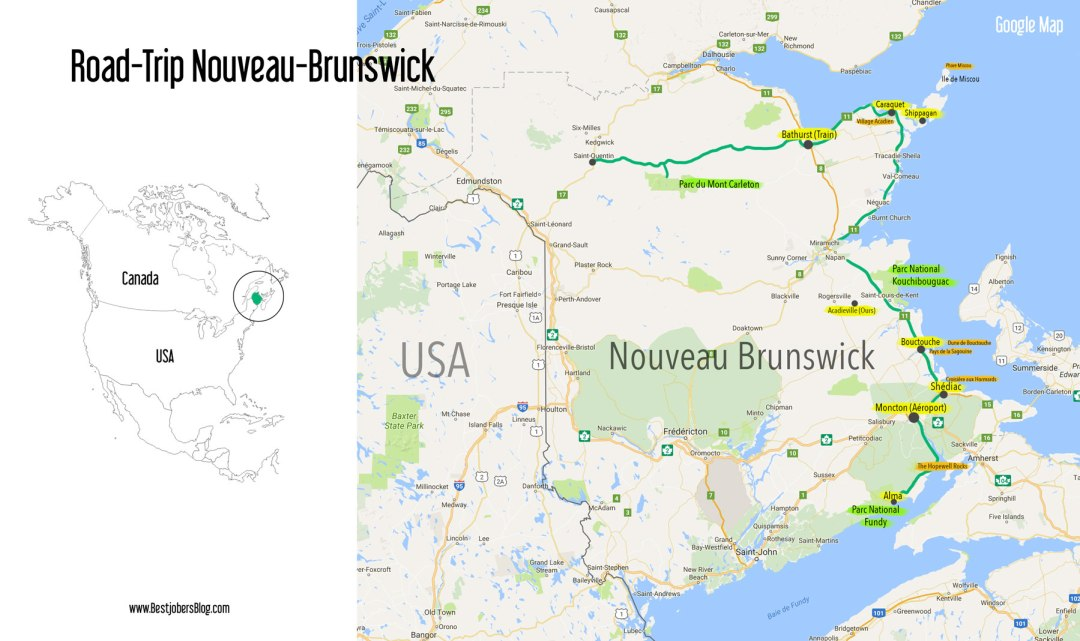 carte nouveau brunswick road trip