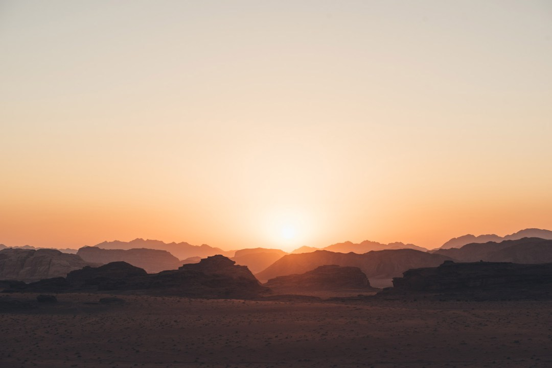 coucher de soleil jordanie