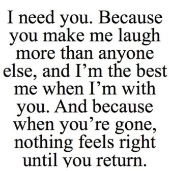 I Love You Because Quotes Funny : ... - Love Quotes You Are Everything I Need A Cute Quotes About Love Jpg