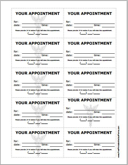 doctor appointment cards templates - Trisamoorddiner