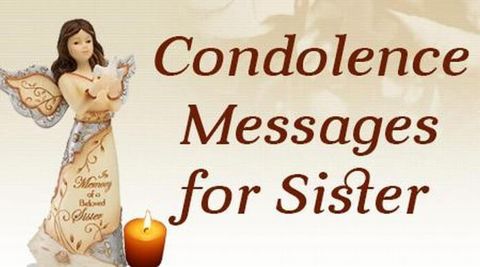 Condolences Messages for Sister, Message of Sympathy for Death of Sister - condolence messages