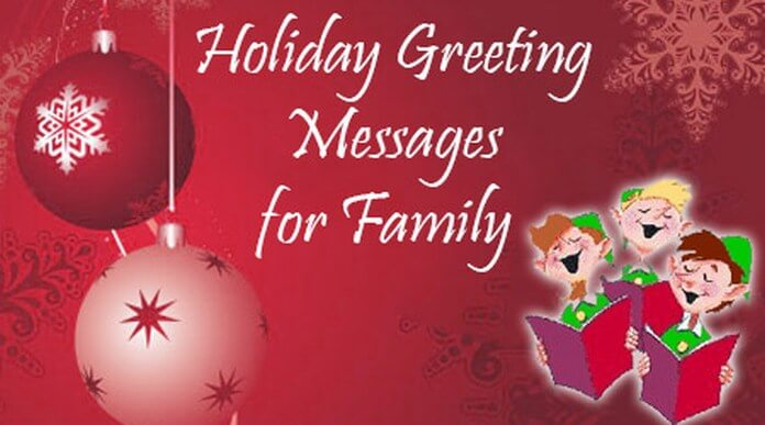 Holiday Greeting Messages for Family - holiday greeting message