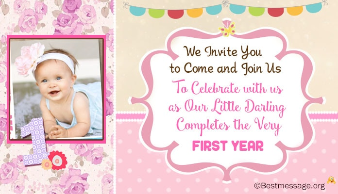 Unique Cute 1st Birthday Invitation Wording Ideas For Kids