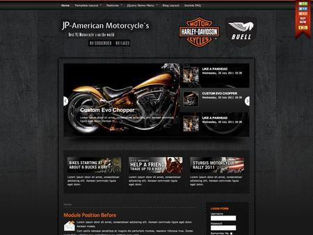 Joomla Template - JP - American Motorcycle