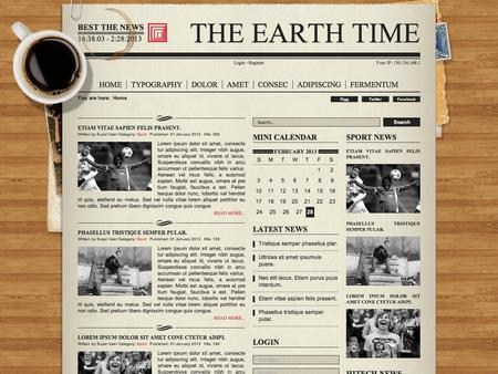 Joomla Template - NewsPaper - online newspaper template