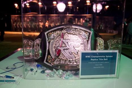 Silent auction item: an authentic WWE championship belt
