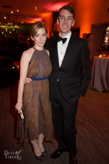 Robyn Callum, Stephen Delaney (NBS Gala co-chair)