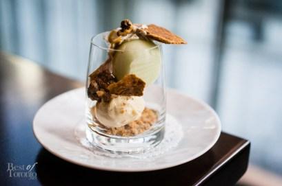 Apple Sundae - cinnamon ice cream, caramel sauce, puff pastry, chantilly