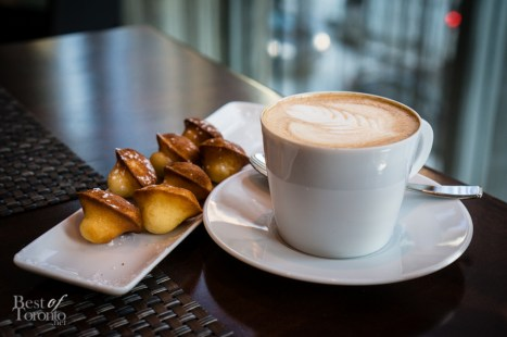 Madeleines and cappucino