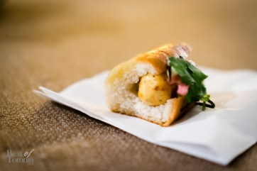 Salmon and scallop Tokyo dog