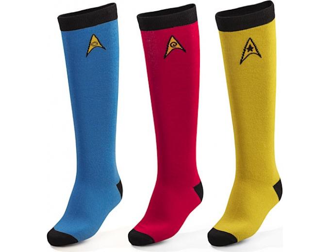 35 Off Star Trek Os 3 Pack Ladies39 Knee High Socks 1299
