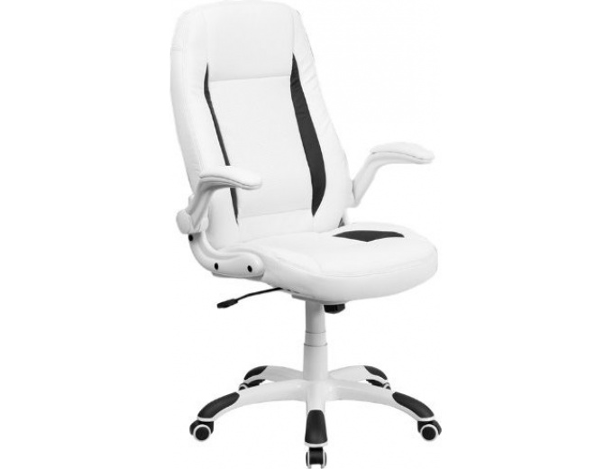 50 Off White Leather Executive Swivel Office Chair 106