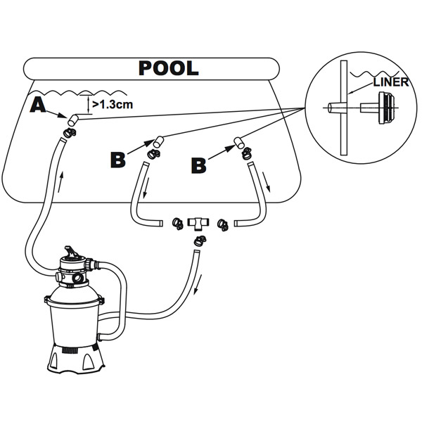 intex pool diagram