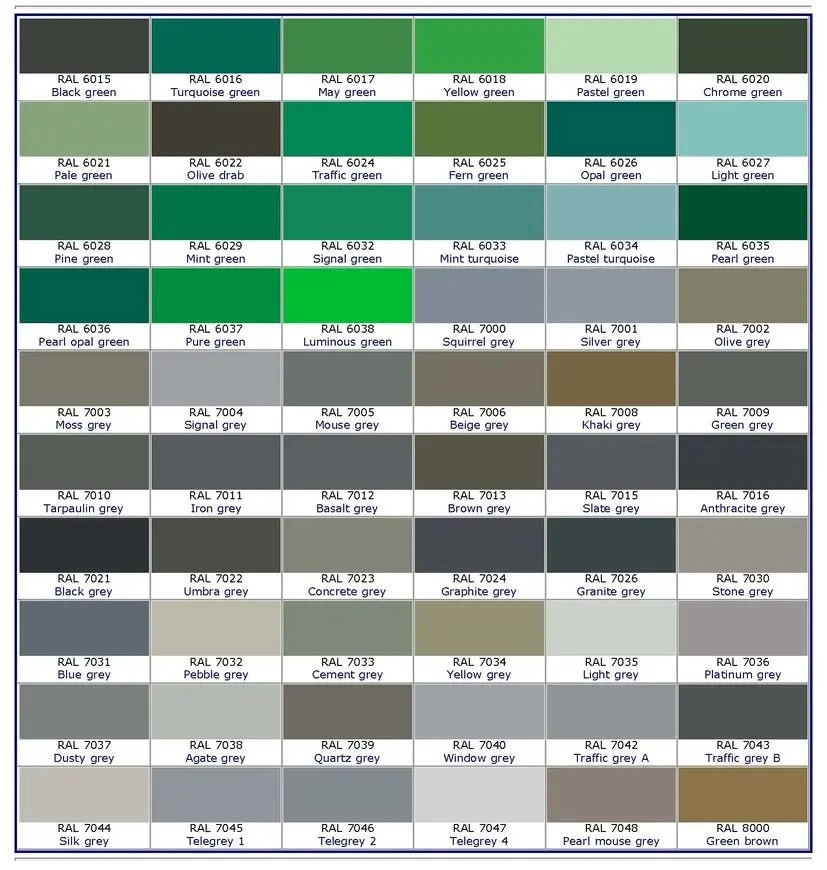RAL COLORS-BEST PRICE GLAZING SERVICES WINDOWS AND DOORS LONDON - ral color chart