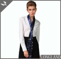 Silver foil printed stars skinny scarf for women in China ...