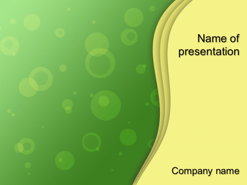 Download free Yellow Waves powerpoint template for your presentation