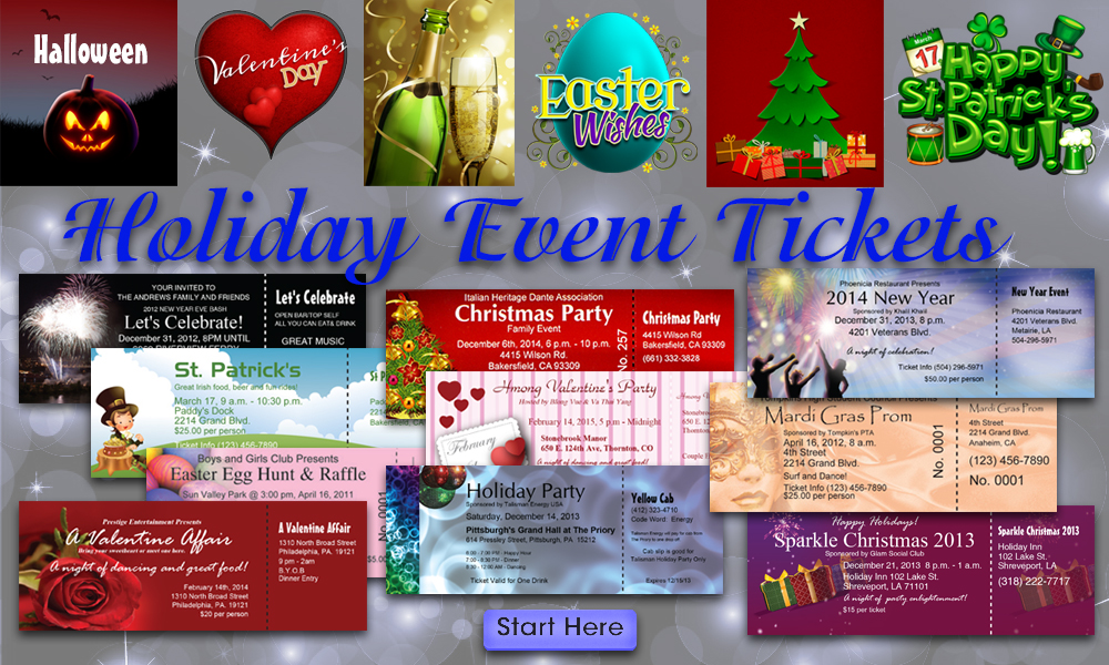 Holiday Tickets - Best Ticket Printing