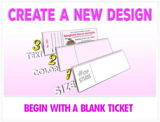 Custom Raffle Ticket Printing EZ Online Design Best Ticket Printing - create tickets template