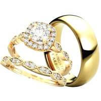 Couples Wedding Ring Sets