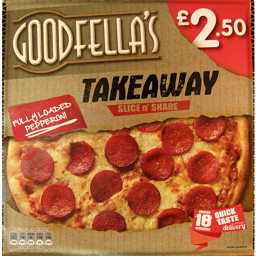Goodfella\u0027s Takeaway Slice n\u0027 Share Fully Loaded Pepperoni 411g