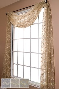 Grand Luxe Sheer Scarf Swag Window Topper available in 2 ...