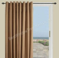 Oxford Tuxedo Patio Curtain Panel with Grommets